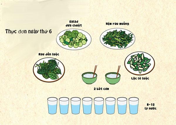 Ăn 2 bát cơm và trưa và chiều
