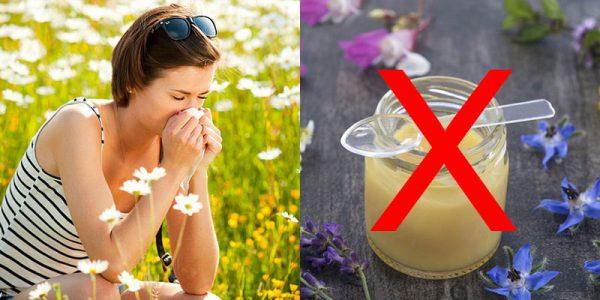 Những người bị dị ứng phấn hoa không dùng sữa ong chúa