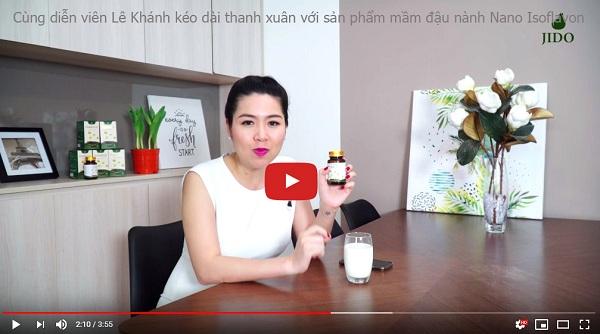 Nữ diễn viên Lê Khánh chia sẻ về mầm đậu nành Flagold