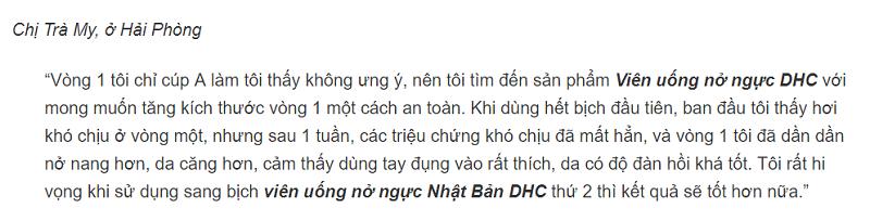 tăng vòng 1 DHC,thuốc tăng vòng 1 DHC,thuốc tăng vòng 1 tốt nhất hiện na,thực phẩm chức năng tăng vòng 1,thuốc nở ngưc bbb có tốt không,DHC tăng vòng 1 review,review viên uống DHC tăng vòng 1,viên uống tăng vòng 1 DHC,DHC tăng vòng 1 của Nhật