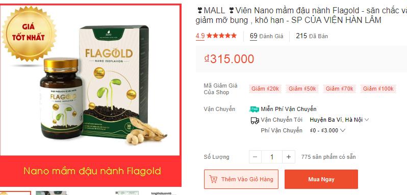 Nano mầm đậu nành FlaGold giá bao nhiêu