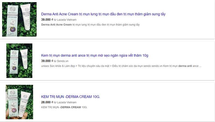 kem trị mụn anti acne cream có tốt không, kem trị mụn anti acne cream, kem trị mụn derma anti acne cream, thuốc trị mụn anti acne cream