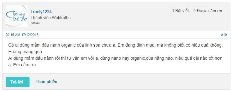 Mầm đậu nành Organic có tốt không