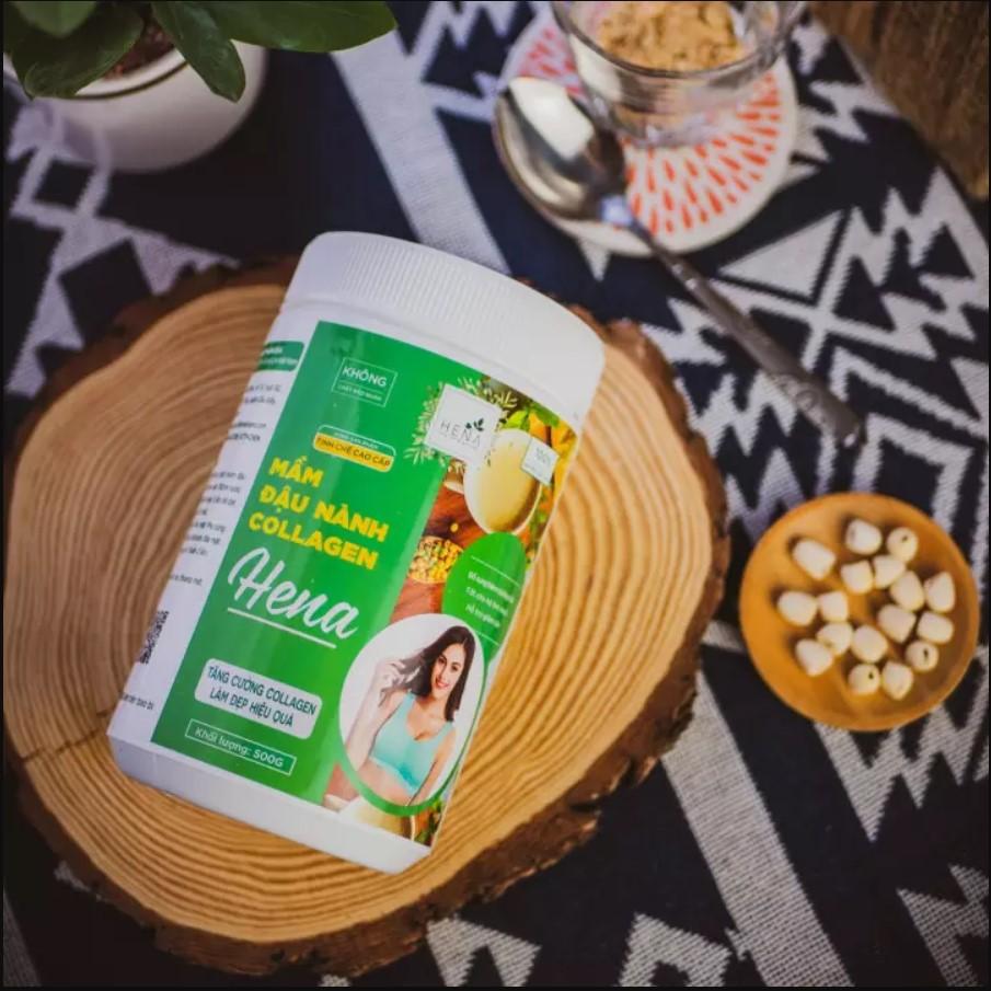 Bột mầm đậu nành Collagen Hena có tốt không? Giá bao nhiêu? Mua ở đâu?