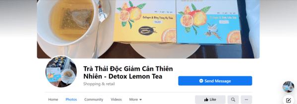 Nơi mua trà thải độc giảm cân Lemon Detox Tea uy tín nhất