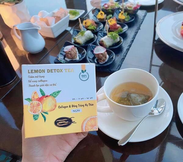 Trà giảm cân Lemon Detox Tea màu vàng