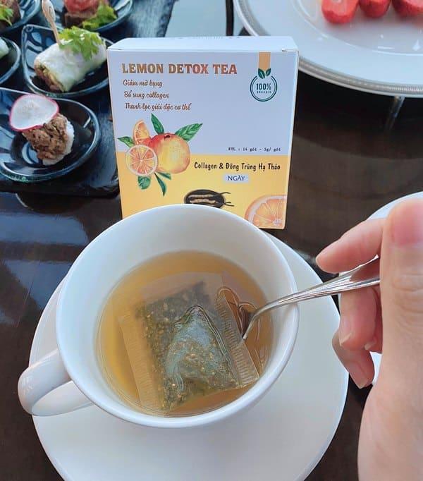 Pha trà giảm cân Lemon Detox Tea đúng cách như thế nào?