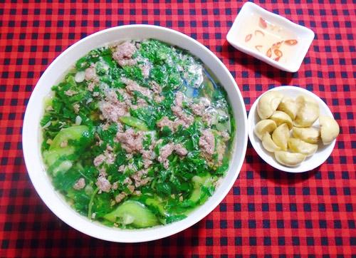 Canh rau dền nấu tôm giảm cân, thanh mát